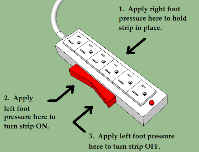 foot power strip