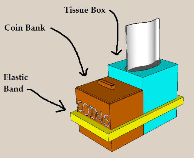 tissue box coin bank