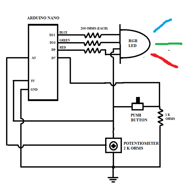 [SCHEMATICS_4ER]  Beyond the Blink: RGB LED multiple lighting effects with arduino, push  button, and potentiometer   Engineer Zero   Led Potentiometer Wiring Diagram      Engineer Zero